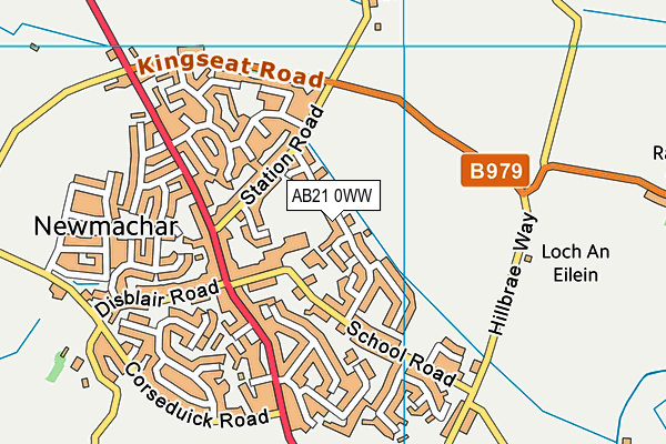 Map of M56 LTD at district scale