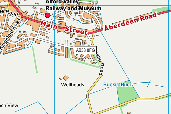 Map of ABERDEEN AIR CONDITIONING AND REFRIGERATION SERVICES LTD at district scale