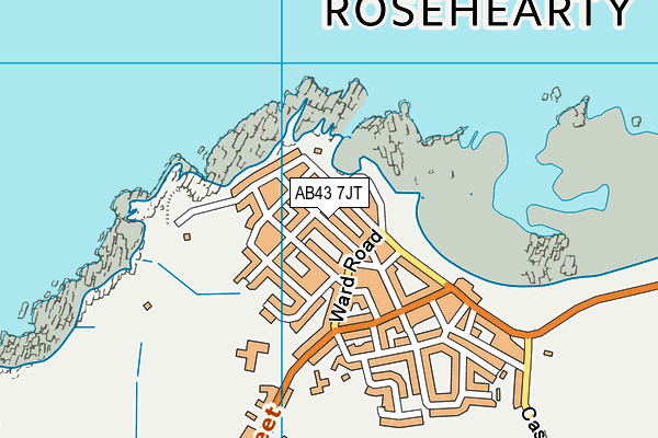 Map of ROSEHEARTY ROUGHCASTERS LTD at district scale