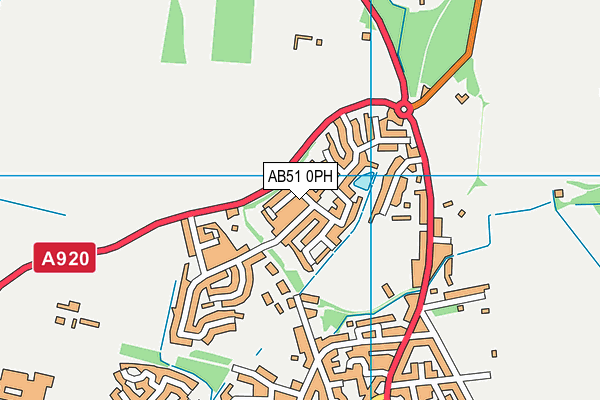 Map of MACDONALD PLUMBING AND HEATING SUPPLIES LTD at district scale