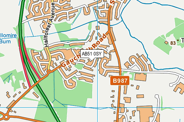 Map of MC2 ABERDEEN LTD at district scale