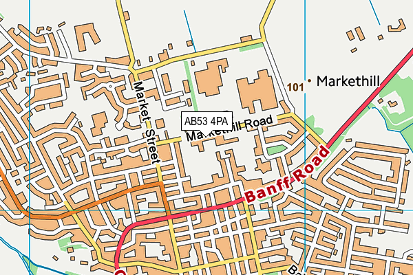 Map of TOWNS AND CARNIE LIMITED at district scale