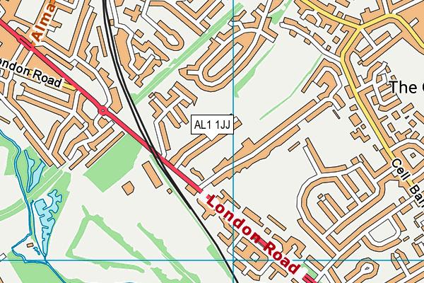 AL1 1JJ map - OS VectorMap District (Ordnance Survey)