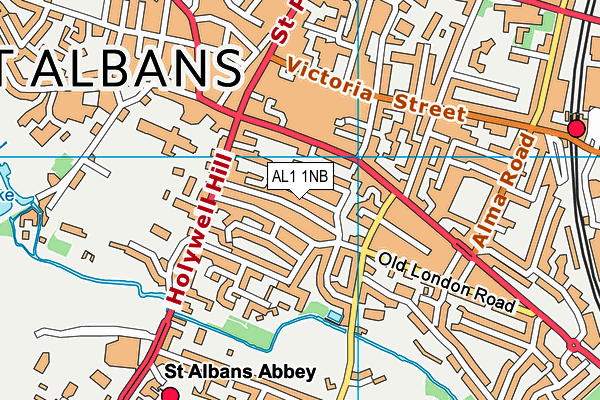 AL1 1NB map - OS VectorMap District (Ordnance Survey)