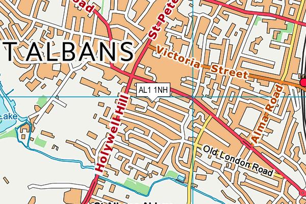 AL1 1NH map - OS VectorMap District (Ordnance Survey)