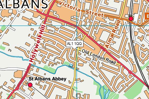 AL1 1QQ map - OS VectorMap District (Ordnance Survey)