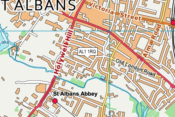 AL1 1RQ map - OS VectorMap District (Ordnance Survey)