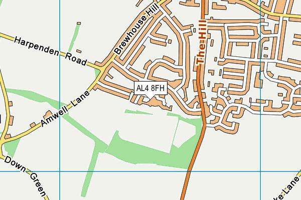 Butterfield Road map (AL4 8FH) - OS VectorMap District (Ordnance Survey)