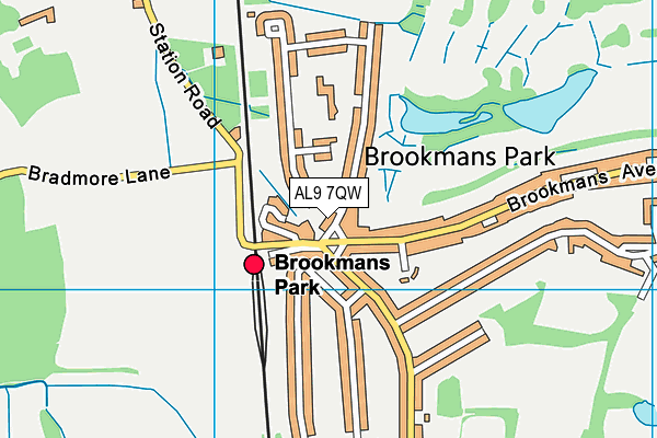 """Resultat d'imatges per a """"brookmans park map"""""""
