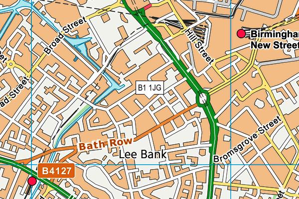 B1 1JG map - OS VectorMap District (Ordnance Survey)