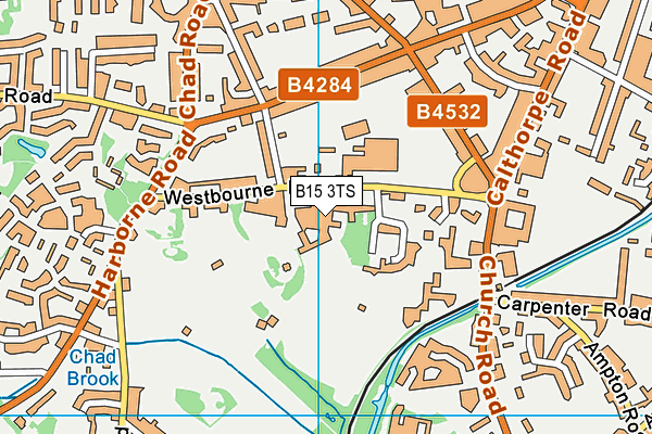 Edgbaston High School For Girls map (B15 3TS) - OS VectorMap District (Ordnance Survey)