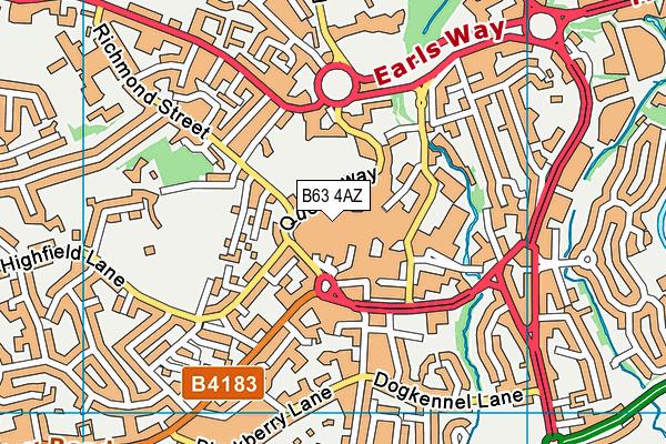 Halesowen Library map (B63 4AZ) - OS VectorMap District (Ordnance Survey)
