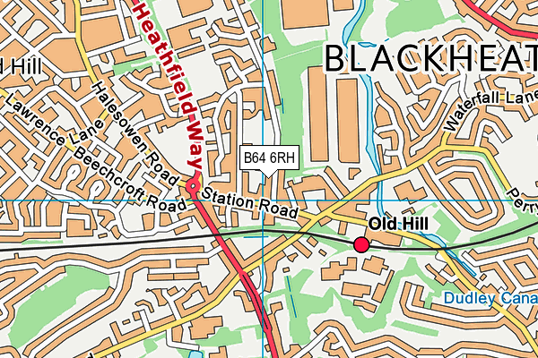 Temple Meadow Primary School map (B64 6RH) - OS VectorMap District (Ordnance Survey)