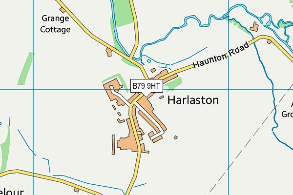 B79 9HT map - OS VectorMap District (Ordnance Survey)