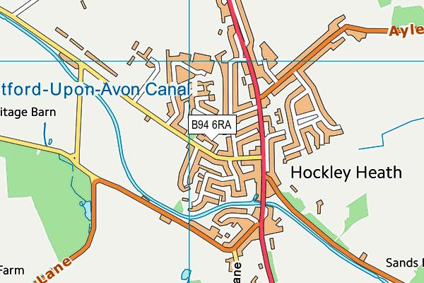 Hockley Heath Academy map (B94 6RA) - OS VectorMap District (Ordnance Survey)