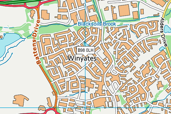 Roman Way First School map (B98 0LH) - OS VectorMap District (Ordnance Survey)
