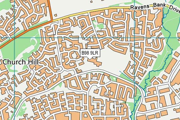 Church Hill Middle School map (B98 9LR) - OS VectorMap District (Ordnance Survey)