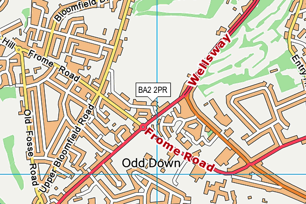 Odd Down Sports Ground map (BA2 2PR) - OS VectorMap District (Ordnance Survey)