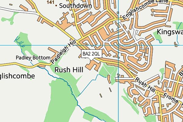 Culverhay Leisure Centre map (BA2 2QL) - OS VectorMap District (Ordnance Survey)