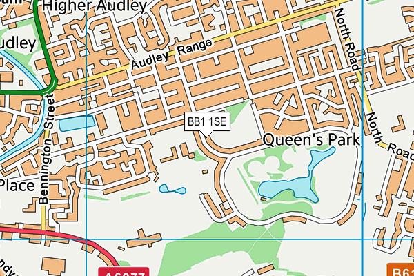 Audley Junior School map (BB1 1SE) - OS VectorMap District (Ordnance Survey)