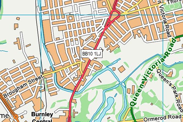 Olive High Ltd Map Bb10 1lj Os Vectormap District Ordnance Survey