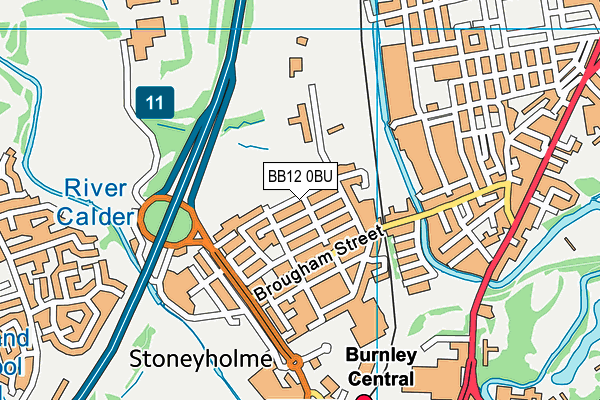 Stoneyholme Nursery School Map Bb12 0bu Os Vectormap District Ordnance Survey