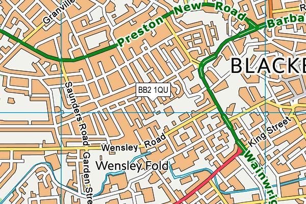 Ashworth Nursery School map (BB2 1QU) - OS VectorMap District (Ordnance Survey)