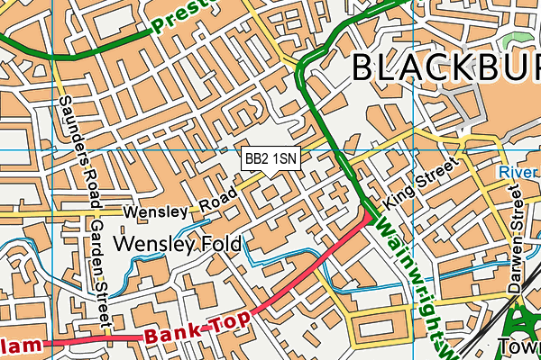 St Barnabas and St Paul's Church of England Voluntary Aided Primary School map (BB2 1SN) - OS VectorMap District (Ordnance Survey)