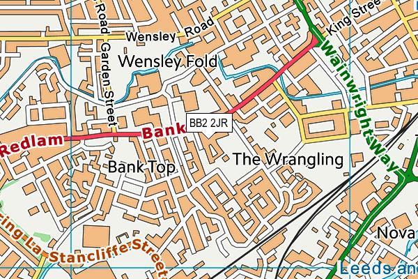 St Wilfrid's Church of England Academy map (BB2 2JR) - OS VectorMap District (Ordnance Survey)