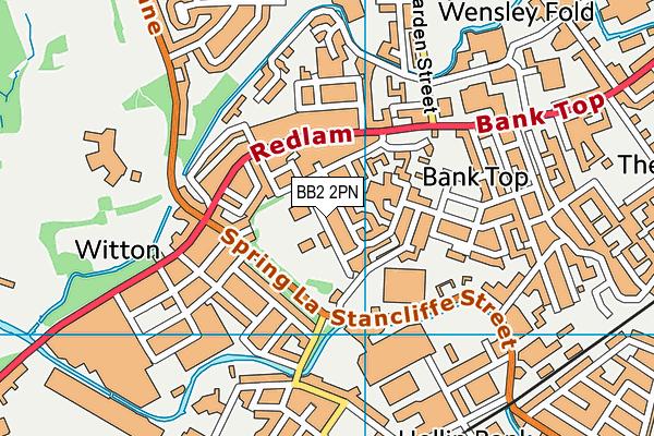 Griffin Park Primary School map (BB2 2PN) - OS VectorMap District (Ordnance Survey)