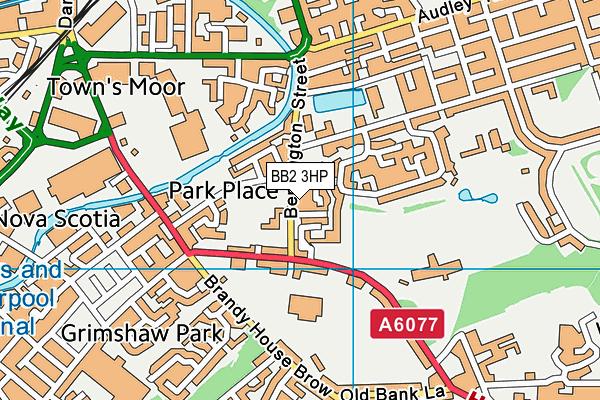 St Mary's and St Joseph's Roman Catholic Primary School Blackburn map (BB2 3HP) - OS VectorMap District (Ordnance Survey)