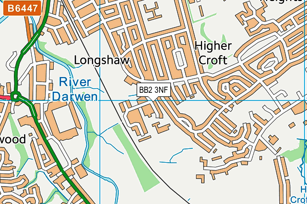 Longshaw Infant School map (BB2 3NF) - OS VectorMap District (Ordnance Survey)