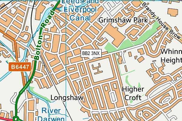 Longshaw Community Junior School map (BB2 3NX) - OS VectorMap District (Ordnance Survey)