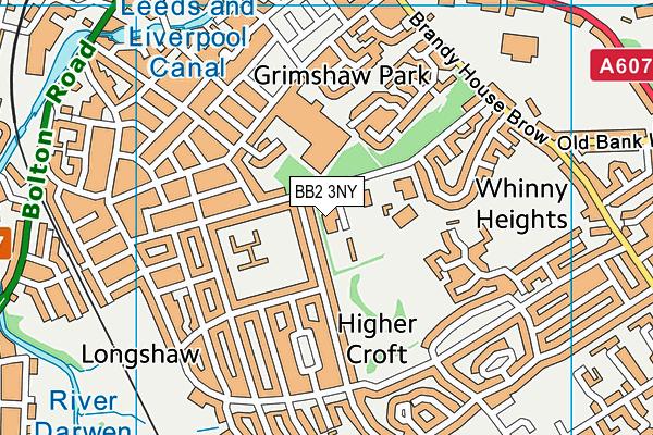 Markazul Uloom map (BB2 3NY) - OS VectorMap District (Ordnance Survey)