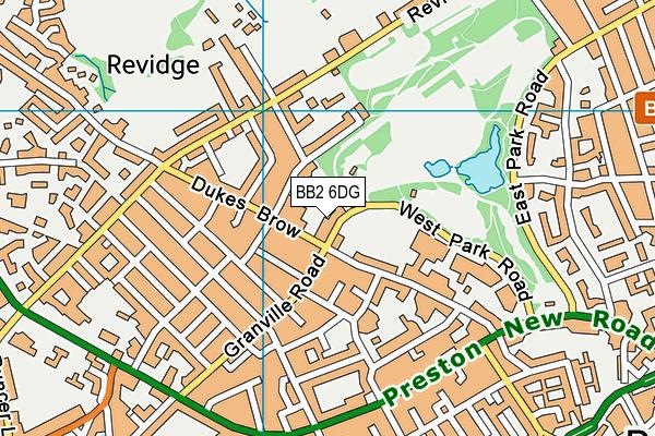 East Lancashire Club map (BB2 6DG) - OS VectorMap District (Ordnance Survey)