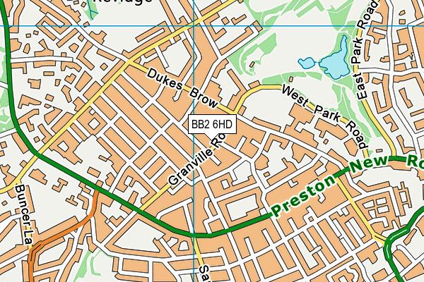 Dar Ul Madinah map (BB2 6HD) - OS VectorMap District (Ordnance Survey)