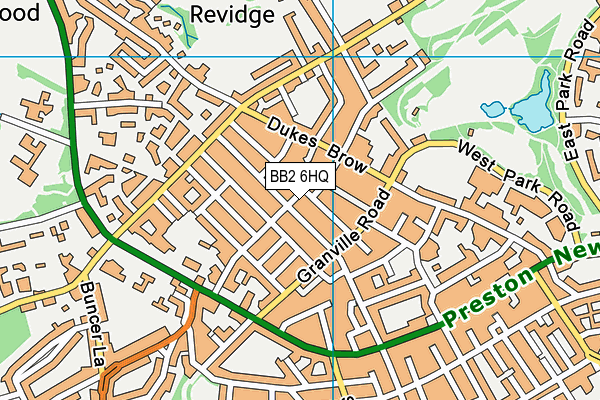 Sacred Heart Roman Catholic Primary School Blackburn map (BB2 6HQ) - OS VectorMap District (Ordnance Survey)