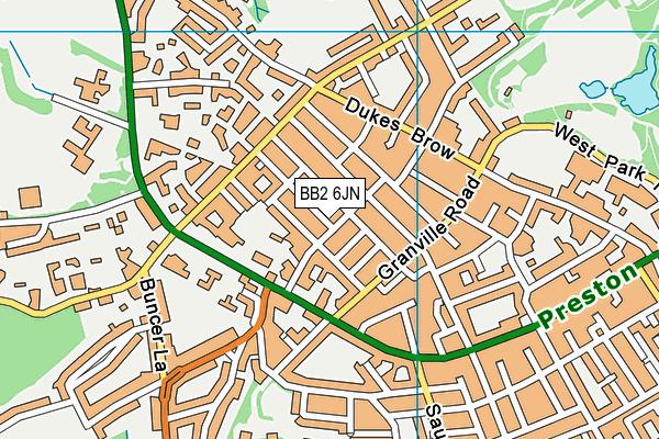 BB2 6JN map - OS VectorMap District (Ordnance Survey)