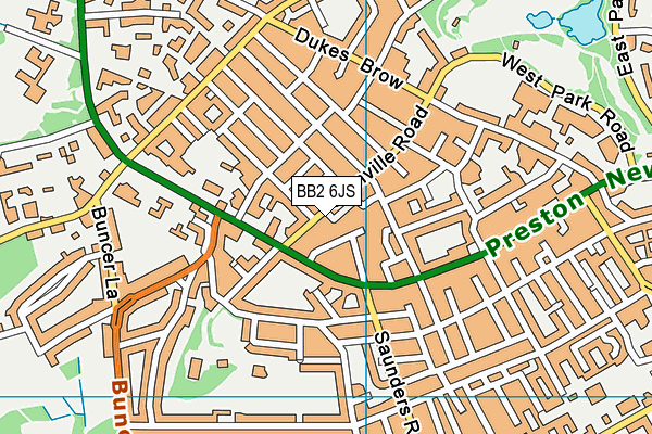 BB2 6JS map - OS VectorMap District (Ordnance Survey)
