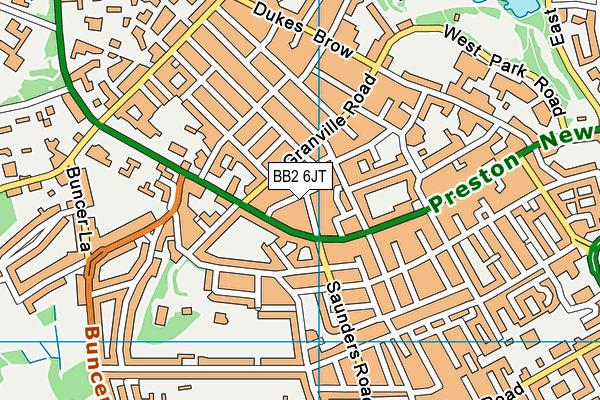 BB2 6JT map - OS VectorMap District (Ordnance Survey)