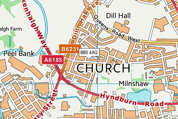 BB5 4AQ map - OS VectorMap District (Ordnance Survey)