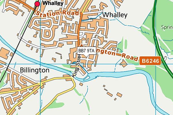 BB7 9TA map - OS VectorMap District (Ordnance Survey)