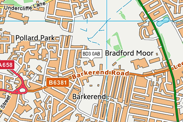 Byron Primary School map (BD3 0AB) - OS VectorMap District (Ordnance Survey)