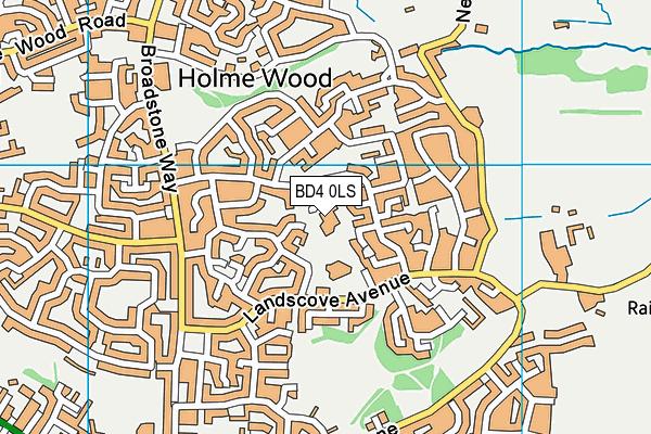 Ryecroft Primary Academy map (BD4 0LS) - OS VectorMap District (Ordnance Survey)
