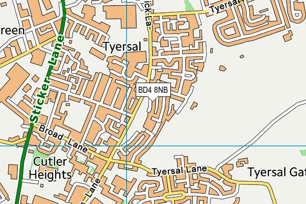 The Sutton Community Hall map (BD4 8NB) - OS VectorMap District (Ordnance Survey)