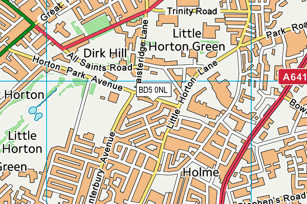 Better Gym Bradford map (BD5 0NL) - OS VectorMap District (Ordnance Survey)