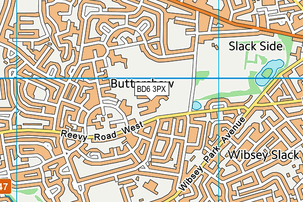 Buttershaw Business And Enterprise College map (BD6 3PX) - OS VectorMap District (Ordnance Survey)