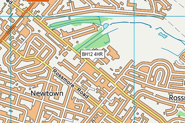 Rossmore Leisure Centre map (BH12 4HR) - OS VectorMap District (Ordnance Survey)