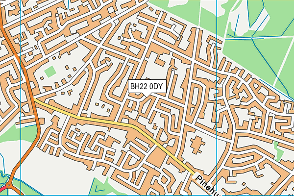 Oakhurst Community First School map (BH22 0DY) - OS VectorMap District (Ordnance Survey)