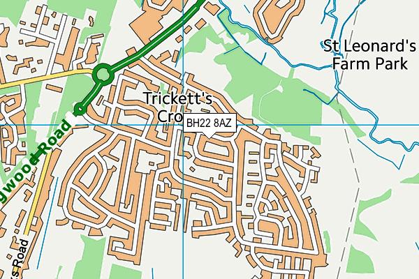 BH22 8AZ map - OS VectorMap District (Ordnance Survey)